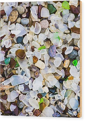 Glass Beach Wood Print
