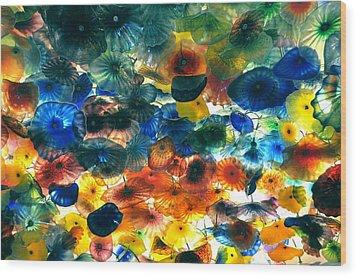 Glass Flowers Wood Print by Ernesto Cinquepalmi