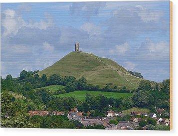 Glastonbury Tor Wood Print