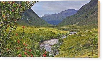 Glen Etive Scotland Wood Print