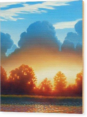 Glowing Wood Print