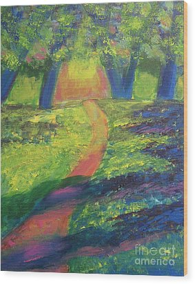 Glowing Path Wood Print