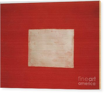 Gold Square Wood Print by Fereshteh Stoecklein