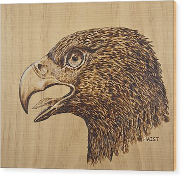 Golden Eagle Wood Print by Ron Haist
