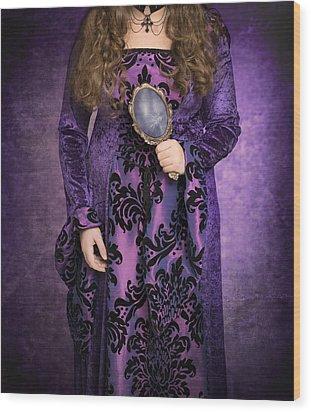 Gothic Woman Wood Print by Amanda Elwell