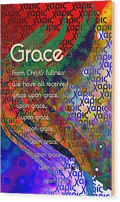 Grace Wood Print by Chuck Mountain