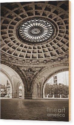 Grand Rotunda Pennsylvanian Pittsburgh Wood Print by Amy Cicconi