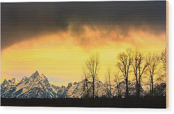 Wood Print featuring the photograph Grand Tetons Wyoming by Amanda Stadther