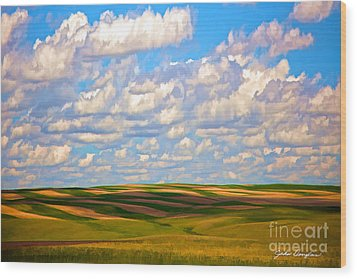 Great Plains Wood Print