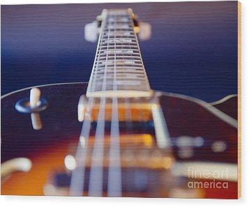 Guitar Wood Print by Stelios Kleanthous