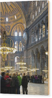 Hagia Sophia Scene Four Wood Print by Cliff C Morris Jr