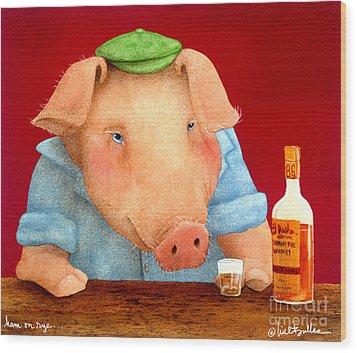 Ham On Rye... Wood Print by Will Bullas