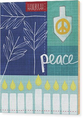 Hanukkah Peace Wood Print by Linda Woods