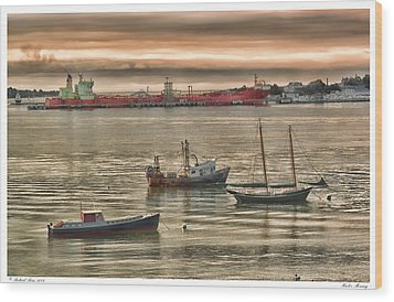 Wood Print featuring the photograph Harbor Morning by Richard Bean