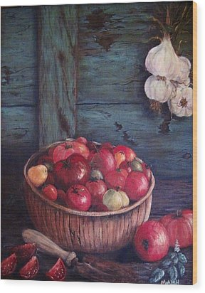 Wood Print featuring the painting Harvest Time by Megan Walsh