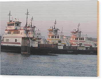 Hatteras Ferry  Wood Print by Cathy Lindsey