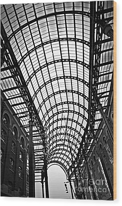 Hay's Galleria Roof Wood Print by Elena Elisseeva