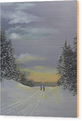Heading Home Wood Print by Ken Ahlering