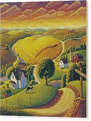 Heartland  Wood Print by Robin Moline