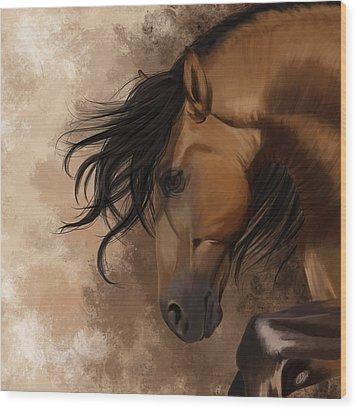Hidden Sadness Wood Print by Kate Black