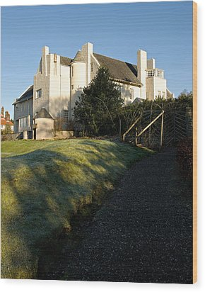 Hill House Wood Print by Stephen Taylor