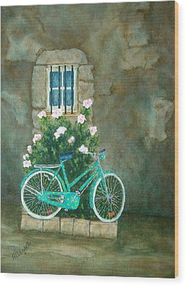 Home For Lunch In Rome Wood Print by Pamela Allegretto