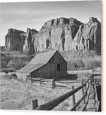 Horse Barn In Fruita Utah Wood Print by Jack Schultz