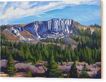 Horse Mesa Wood Print by Katrina West