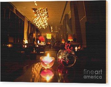 Hotel Lounge Wood Print by Fototrav Print