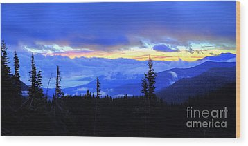 Hurricane Ridge Wood Print by Twenty Two North Photography