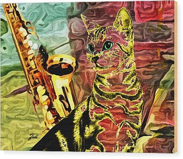 Wood Print featuring the photograph Jazz by Ze  Di