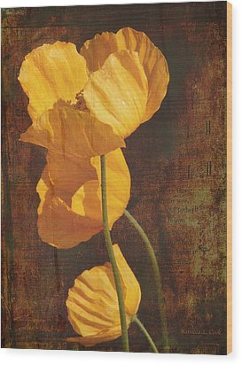 Icelandic Poppy Wood Print