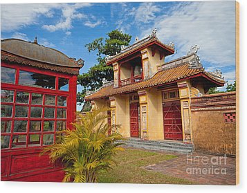Imperial City Of Hue Vietnam Wood Print by Fototrav Print