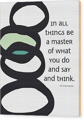 In All Things Wood Print by Linda Woods