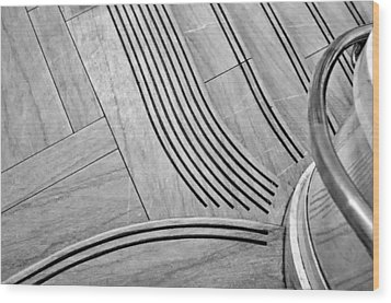 Intersection Of Lines And Curves Wood Print by Gary Slawsky