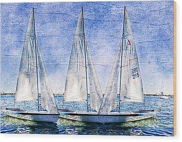 Into The Blue Wood Print by Debra and Dave Vanderlaan