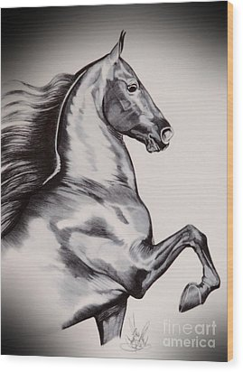 Into The Wind - Saddlebred Wood Print
