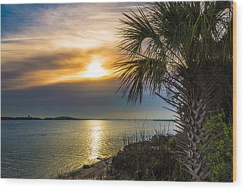 Wood Print featuring the photograph Intracoastal Sunrise by Frank Bright