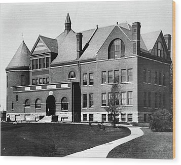 Wood Print featuring the photograph Iowa State University, C1900 by Granger