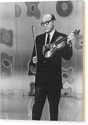 Jack Benny Wood Print by Silver Screen