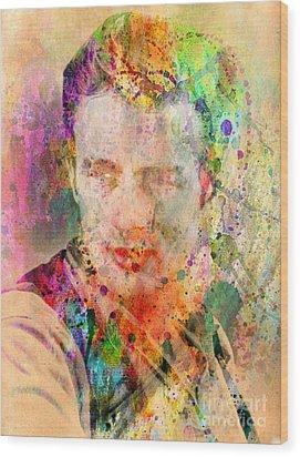 James Dean Wood Print by Mark Ashkenazi