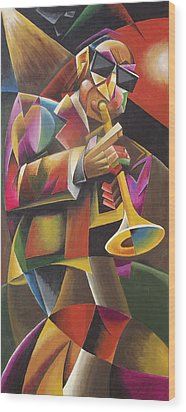 Jazz Horn Wood Print by Bob Gregory