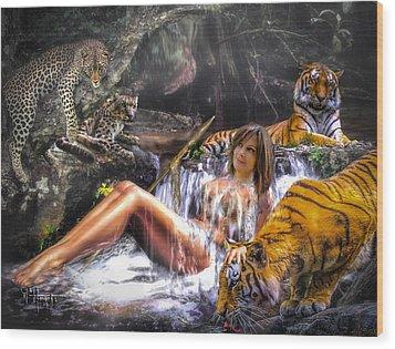 Wood Print featuring the photograph Jungle Ginns by Glenn Feron