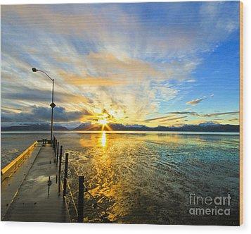 K Bay Sunrise Wood Print