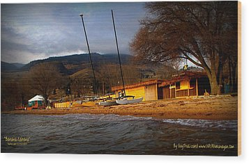 Wood Print featuring the photograph Kayaking by Guy Hoffman