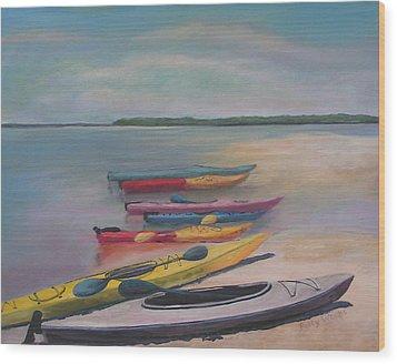 Kayaking Trip Wood Print