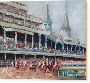 Kentucky Derby Wood Print by Todd Bandy