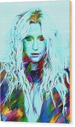Kesha Wood Print by Bogdan Floridana Oana