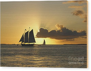Wood Print featuring the photograph Key West Sunset by Olga Hamilton