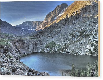 Kit Carson Peak And Willow Lake Wood Print by Aaron Spong